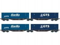 A.C.M.E. 45111 set dvojitých kontejnerových vozů GTS