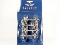 Liliput L999304 kovové loukoťové dvojkolí na vagóny průměr 31mm (4 ks)