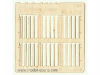 plot prkenný - širší prkna, šikmý řez