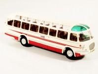 RA Došlý 101700 Škoda 706 RTO LUX červený/bílý, pruh, 2x1-dílné dveře, Florenc H0