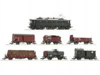 Roco 61492 set nákladního vlaku s elektrickou lokomotivou E52 22 DRG