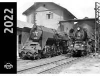 Literatura kaln22par kalendář nástěnný 2022 Parní lokomotivy