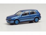 Herpa 034074-002 VW Golf III VR6 modrá metalíza