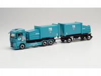 Herpa 314152 MAN TGX GM s kontejnery