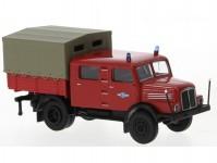 Brekina 71763 IFA S 4000-1 Bautruppwagen 2. verze 1960 hasiči