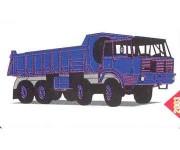 SDV 087 Tatra 813 8x8 S1 modrá - stavebnice H0