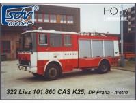 SDV 322 Liaz 101.860 CAS K25 hasiči DP metro H0