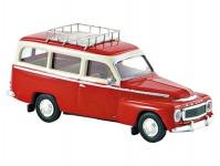 Brekina 29309 Volvo Duett kombi červené se střešním nosičem