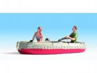nafukovací člun s posádkou