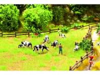 Noch 65601 pastvina s krávami - miniscena - doprodej H0