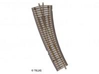 Tillig 83861 výhybka B oblouková pravá ruční 15° TT