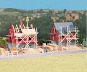 Auhagen 12215 dvojice rozestavěných domů H0/TT