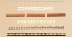 Auhagen 12260 ploty a zábradlí H0/TT