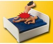 Viessmann 5004 milostný pár v posteli pohyblivý H0