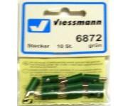 Viessmann 6872 zástrčka zelená 10ks