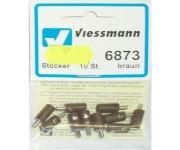 Viessmann 6873 zástrčka hnědá 10ks