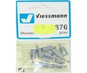 Viessmann 6876 zástrčka šedá 10ks