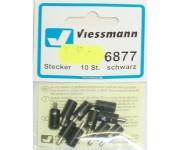 Viessmann 6877 zástrčka černá 10ks