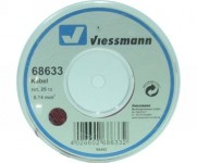 Viessmann 68633 kabel 0,14mm 25m červený