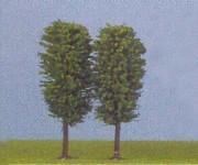 Jordan 3 listnaté stromy zelené 100mm H0
