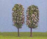 Jordan 4 stromy kvetoucí H0 10cm H0