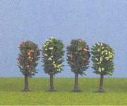 Jordan 6a ovocné stromy N 6cm 4ks H0/TT