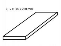 Albion Alltoys sm1m mosazný plech tloušťka 0,12 mm formát 100 x 250 mm 2 ks