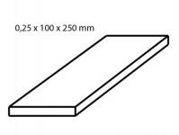 Albion Alltoys sm2m mosazný plech tloušťka 0,25 mm formát 100 x 250 mm 2 ks