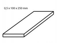 Albion Alltoys sm4m pocínovaný plech tloušťka 0,5 mm formát 100 x 250 mm 2 ks