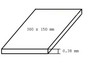 Evergreen 9007 deska čirá, tloušťka 0,38mm formát 150 x 300mm 2 ks