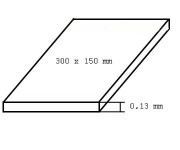 Evergreen 9009 deska bílá, tloušťka 0,13mm formát 150 x 300mm 3 ks