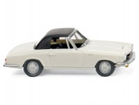 Wiking 18699 Glas 1700 GT Cabrio bílé s černou střechou
