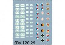 """SDV 12025 obtisky """"armáda"""""""