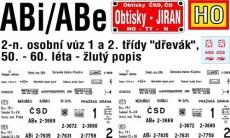 """Obtisky Jiran h0253 obtisk na ABi/ABe - """"dřevák"""", 60. - 80. léta"""