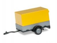 Herpa 051576-002 přívěs za osobní auto s otevřenou plachtou