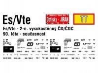 Obtisky Jiran t0582 obtisk na 2-osý vysokostěnný vůz Es/Vte ČD/ČDC