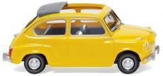 Wiking 09905 Fiat 600 s otevřenou střechou žlutý