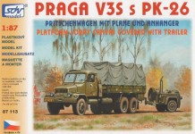 SDV 87113 Praga V3S valník s plachtou a polní kuchyní PK26