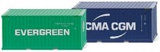 "Wiking 01814 kontejner 40 Ft.  ""Evergreen"" & CMA-CGM"