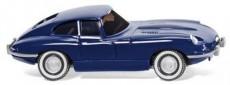 Wiking 80302 Jaguar E coupé tmavě modrý