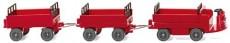 elektrický vozík Still s přívěsy červený