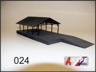 Atelier WEPE 10048 skladištní přístřešek Čelákovice s rampou