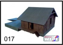 Atelier WEPE 10117 skladiště dřevěné s velkou rampou