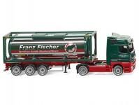 Wiking 53603 MB Actros s cisternovým kontejnerem Franz Fischer Spedition