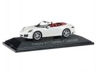 Herpa 071116 Porsche 911 Carrera 4 cabrio bílé