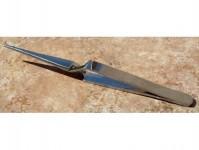 pinzeta zkřížená špičatá, 120 mm dlouhá, nerez
