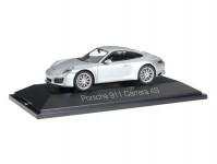 Herpa 071055 Porsche 911 Carrera 4S Coupe stříbrná metalíza