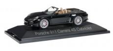 Herpa 071062 Porsche 911 Carrera 4S kabriolet černé