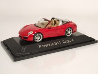 Herpa 071147 Porsche 911 Targa 4 červené