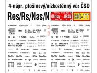 Obtisky Jiran t0590 obtisk na plošinový/nízkostěnný vůz Na/Nas/Ns/Rs/Res ČSD
